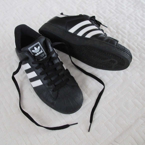 8a1295e3cc1 adidas Other - ADIDAS Black and White Shell Toe Sneakers Shoes